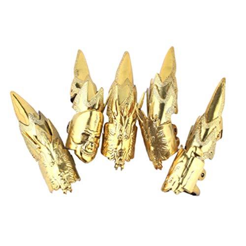 Amosfun Goldene dekorative Nagelklaue des Halloween-Nagelfingers 15pcs für Parteibevorzugungsdekor