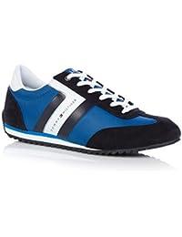 Tommy Hilfiger - Zapatillas para deportes de exterior de Piel para hombre blanco turquesa 41
