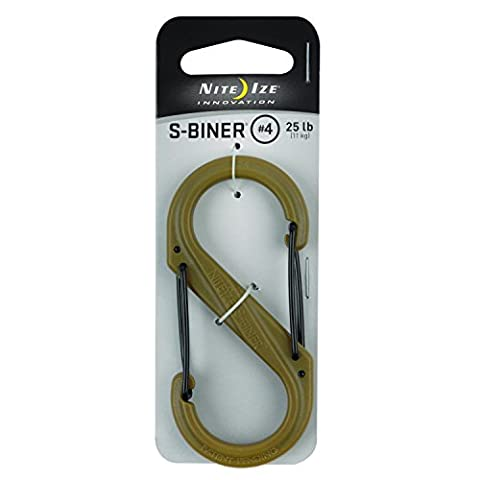 Nite Ize S-Biner Plastic Size-4 Double-Gated Carabiner, Lightweight Yet Strong,