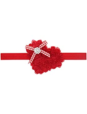 Zhhlaixing Baby Girls Hairband Heart-shaped Embroidery Soft Elastic Headband Flower Hair Accessories for Christmas...