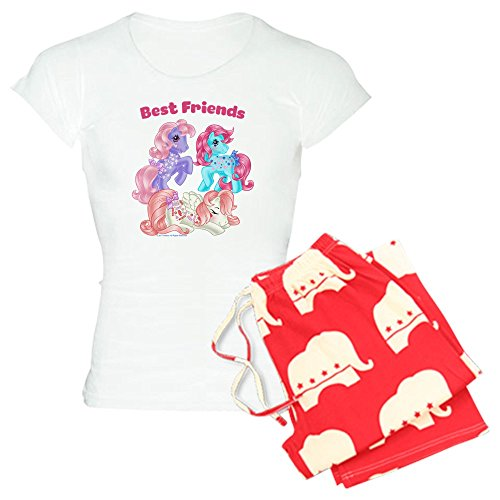 CafePress - My Little Pony Retro Best F - Damen-Pyjama-Set aus Baumwolle, Bequeme Pyjama-Set - Rot - Small (Erwachsene Schlafanzug Für Pony My Little)