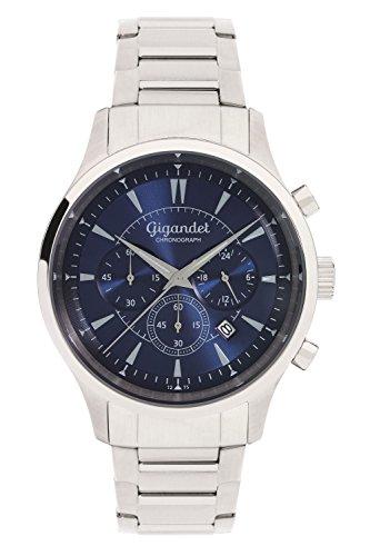 Gigandet Brilliance Montre Homme Chronographe Analogique Quartz Argent Bleu G48-004