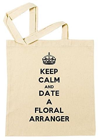 Keep Calm And Date A Floral Arranger Sac à Provisions Plage Coton Réutilisable Shopping Bag Beach Reusable
