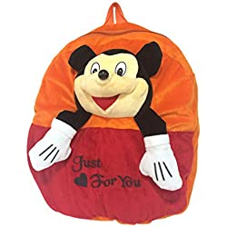 Ultra Smiley Mickey Mouse School Bag 14 inches - Orange
