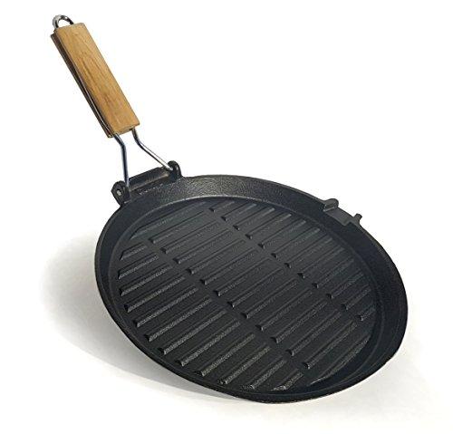 Osoltus grill padella bistecchiera in ghisa, circa 27cm