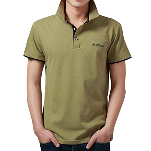 irt Mode Brief Druck Shirt Kurzarm Casual T-Shirt Bluse Polo Business T-Shirt Tops(O,XXL) ()