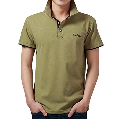Yvelands Herren T-Shirt Mode Brief Druck Shirt Kurzarm Casual T-Shirt Bluse Polo Business T-Shirt (Tote Alice Im Wunderland Kostüm)