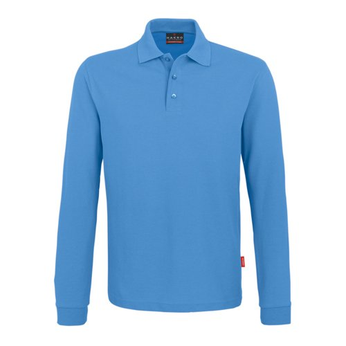 Hakro Performance Langarm-Poloshirt mittelblau   M