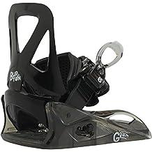 Burton GROM- Fijaciones de Snowboard, color negro, talla Youth (32-34 EU)