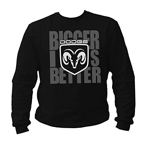 dodge-bigger-is-better-sudadera