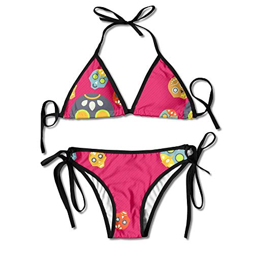 229f0093bf738 Sdltkhy Color Skull Peach Red Swimwear Cool Skimpy Womens Sexy Modest Bikini
