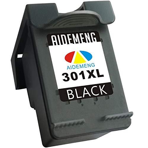 AideMeng Remanufacturado Reemplazo para HP 301 XL 301XL Cartuchos De Tinta (1x Negro) por HP Deskjet 1000, HP Deskjet 1010, HP Deskjet 3000, HP Officejet 2620, HP Officejet 4630