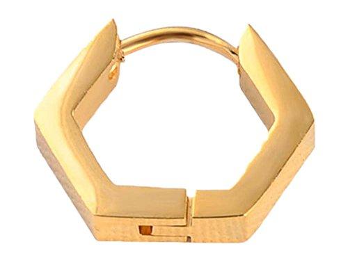 Black Temptation Gold Farbe Titan Stahl Einfache Design Ohrring