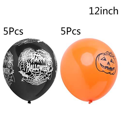 Zoll Latex Ballons Spinnennetz Kürbis Horror Halloween Dekoration ()