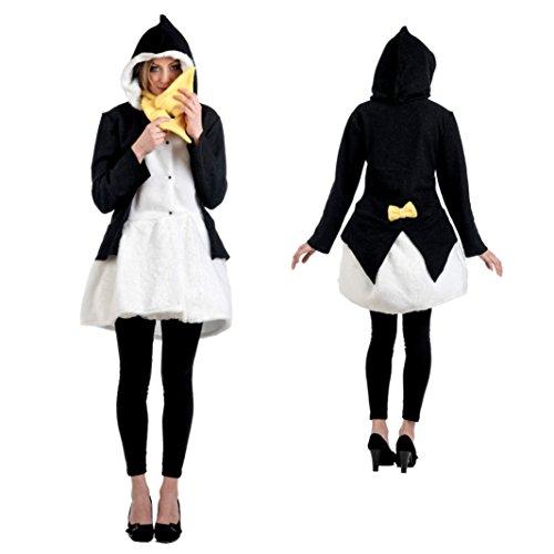 Limit Sport Kostüm Pinguin Größe XL Damen Mantel Schal Straßenkarneval Fasching Tier-Verkleidung