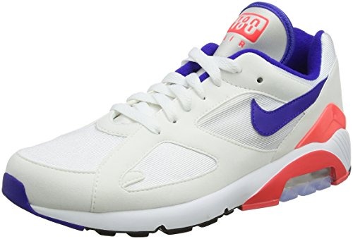 Nike Herren Air Max 180 Gymnastikschuhe, Elfenbein (White Ultramarine Solar Red 100), 42.5 EU - 180 Air