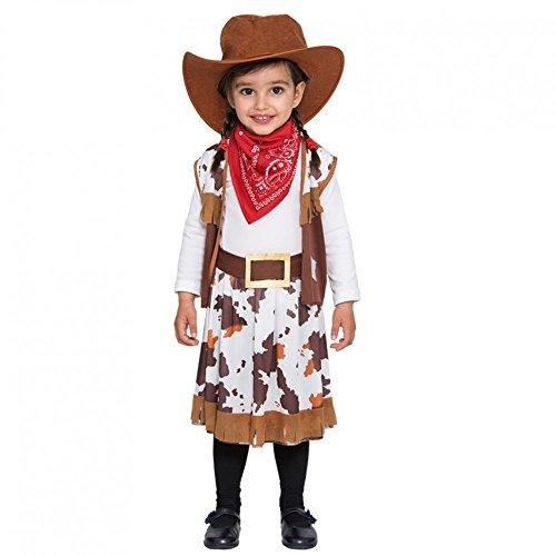 Fyasa 706373-t00Cowgirl Kostüm, Klein (Cowgirl Overall Kostüm)