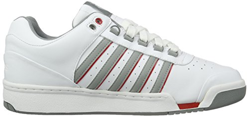 K-SWISS SHOE GSTAAD WHITE/NEUTRAL GRAY/RED WHITE/NEUTRAL GRAY/RED