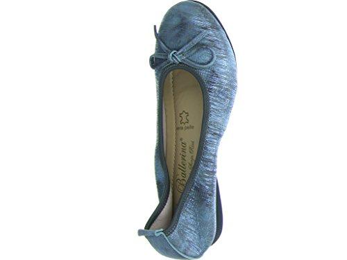 La Ballerina 6192-2b: 18n10, Ballerines Grau Pour Femme