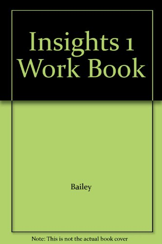 Insights 1 Work Book