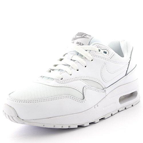 Nike Air Max 1 Gs Scarpe Sportive, Unisex Bambino Bianco / Argentato (White / White-Metallic Silver)
