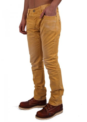 "Redbridge by Cipo & Baxx Herren Jeans ""RB-185"" mustard Mustard"