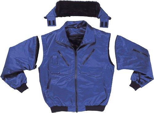 Piloten-Jacke 4 in 1 – Kragenfutter und Ärmel abtrennbar – schwarz – Größe: 3XL - 2