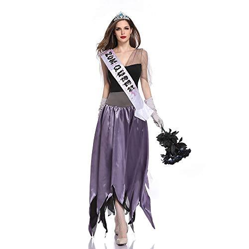 Edelehu Fräulein Schönheit Festzug Halloween Kostüm Tunika Kapuzen Robe Kapuzenumhang Kap Mittelalterliche Mit Kapuze Urlaub Partei Ausrüstung,XL