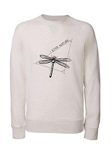 Human Family Herren Sweatshirt - Daily Love Nature (L, Hellgraumeliert)