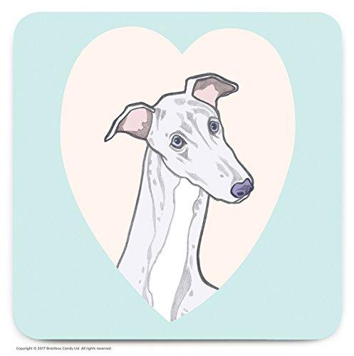 Le cadeau idéal pour les amateurs de 'Greyhound' Chien. – mignon Cœur fantaisie Dessous-de-verre