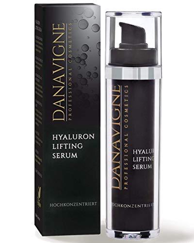 DANAVIGNE Reines Hyaluron Serum hochkonzentriert - Straffendes Anti Aging Gel mit Hyaluronsäure - Anti Falten Soforteffekt - Lifting Serum Augen, Gesicht, Hals & Dekolleté - 1er Pack (1 x 50 ml)