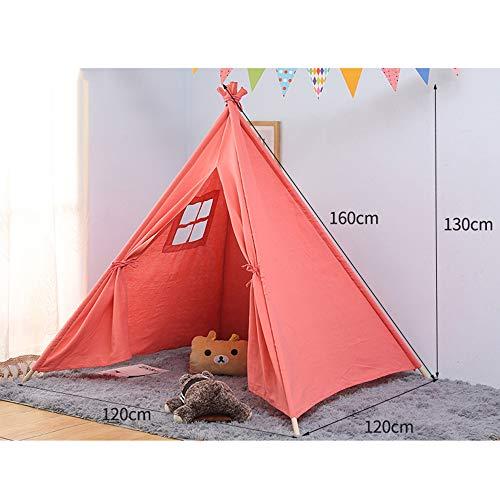 PVIDOR Tipi Zelt für Kinder Faltbares Kinder Spielzelt für Mädchen und Jungen mit Tragetasche 4 Stangen,08 -