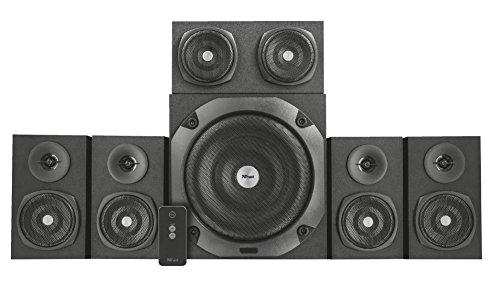Trust Vigor 5.1 Surround Lautsprecher Set (mit Fernbedienung, 150 Watt) schwarz - 2