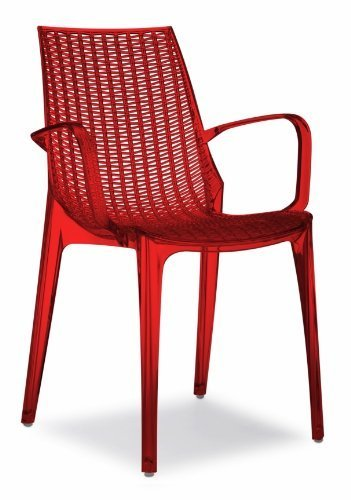 Chaise Tricot Scab Rouge Transparent