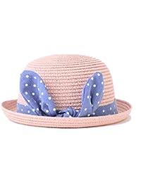 iBaste Lindo Niños Bebé Sombrero de Paja Playa Sombra Transpirable Gorros  de Sol de Deporte Aire e89587aae10