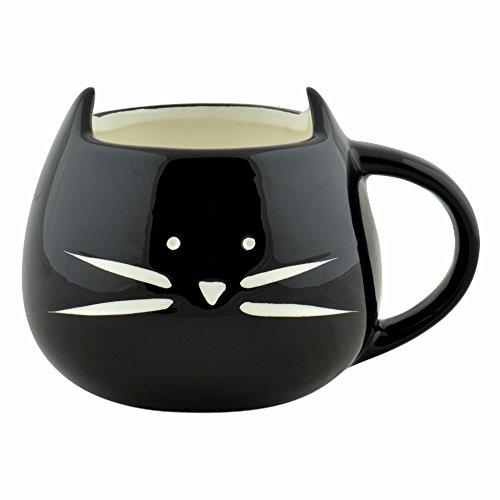 Cozyswan Nero Creactive gatto fatta a mano per caffè latte tè tazza