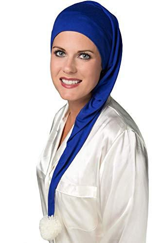 Cardani® Klassische Strumpfmütze aus luxuriösem Bambus - weiche Schlafmütze für Frauen - Schlafmütze Krebs & Chemo Patienten Luxus Bambus - Rosa Mond & Sterne Print - Headcover Turban