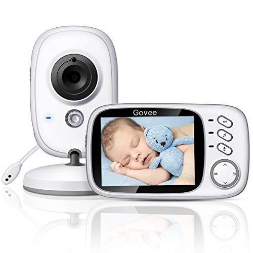 Govee Video Babyphone Baby Monitor 3,2 Zoll 2,4 GHz Wireless weit reichend mit Digitalkamera, Infrarot Nachtsicht, Zwei Wege Audio, mit der Funktion VOX und Temperatur