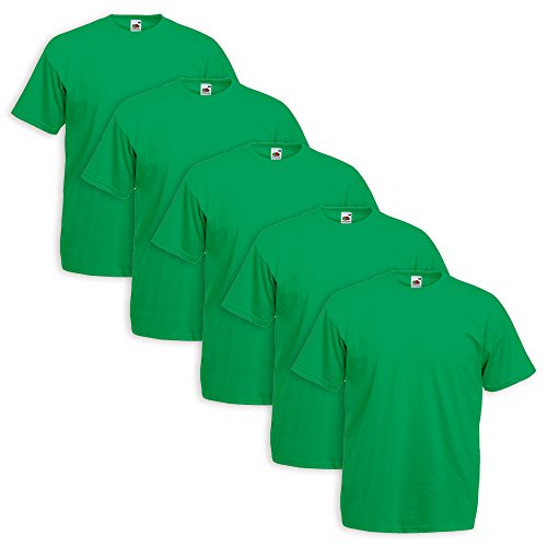 5er Pack T-Shirt Valueweight T - Farbe: Kelly Green - Größe: M