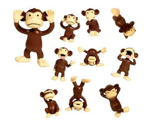 Monkeyin' Around Figuren in Tüte mit 100 Stück ~ Tiny Monkey Party Favors (ideal für Party-Gastgeschenke und Kuchendekoration)