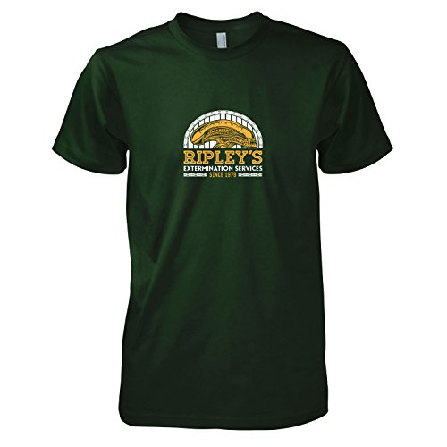 TEXLAB - Ripley's Extermination Services - Herren T-Shirt Flaschengrün