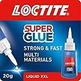 Loctite 2378772 Super Lijm, All-Purpose Adhesive voor reparaties, supersterke transparante lijm voor verschillende materialen