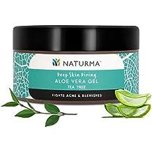 Naturma Tea Tree Aloe Vera Gel, Natural and Organic, Fights Acne Blemishes Post-Wax, 100gm