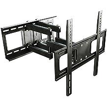 RICOO Supporto TV S1544 Muro TV Supporto girevole inclinabile per schermo piatto staffa per TV parete per televisori 76 - 165cm / 30