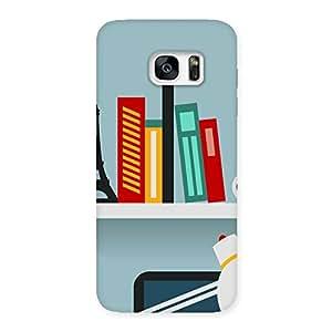 Special Creative Desk Multicolor Back Case Cover for Galaxy S7 Edge