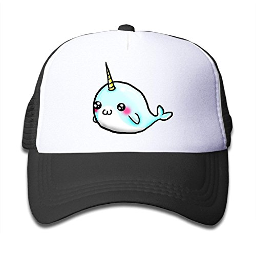 Vidmkeo Nerd Cute Little Narwhal Children Kids Nylon Adjustable Baseball Cap One Size Fits Most C1