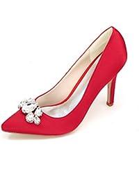 Qingchunhuangtang@ Elegante Pumps/Satin/Frauen Heels/Groszlig; Vintage Hochzeit Schuhe/Kleidung Schuhe