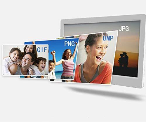 NINI 10,1 Zoll Digital Photo Frame HD Multi-Funktion Wand Hängen Elektronische Album-Video-Werbemaschine Digitale Broschüre,White -