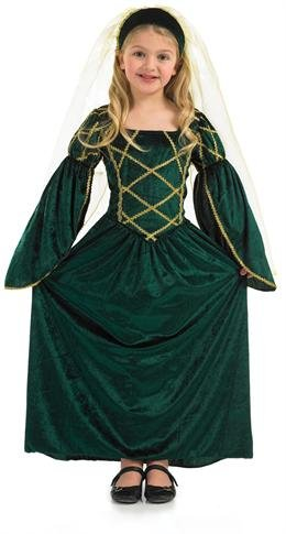 Grüne Tudor Kleid Mädchen - Kinder Kostüm