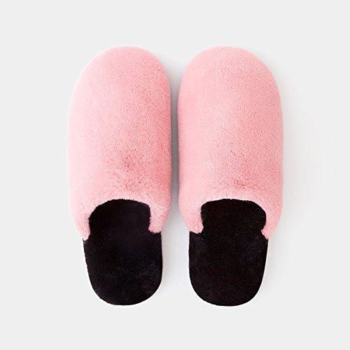 DogHaccd pantofole,Home Home paio di pantofole di cotone gli uomini e le donne spesso inverno caldo peluche carino scarpe velluto plus,Vino rossoRosa Rosso2
